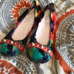 Rachel roy multi color flats with spikes